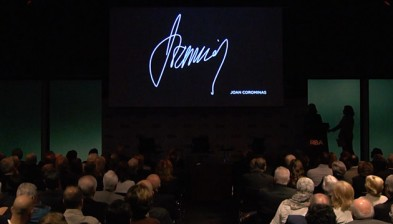 Homenatge a Joan Corominas amb Josep Oliu