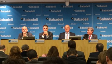 Banco Sabadell earns 708.4 million euros in 2015 , 90.6 % more