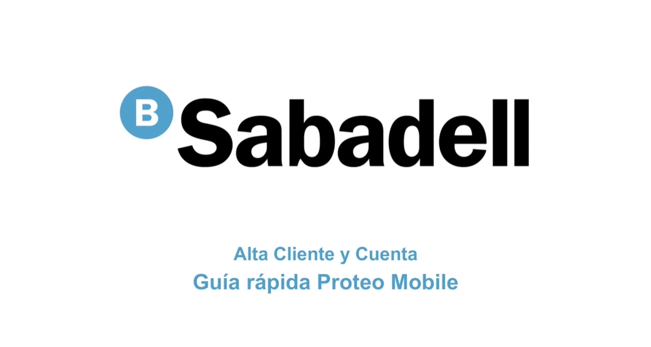 Alta de Cliente y Cuenta para Proteo Mobile