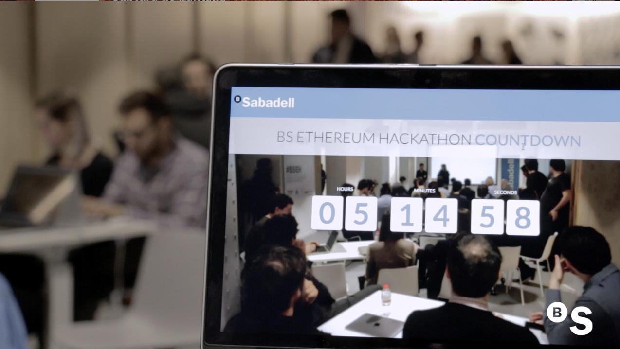 Blockchain Hackathon de Banco Sabadell, con Ethereum