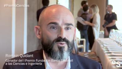Dr. Romain Quidant, I Premi Fundació Banc Sabadell a les Ciències i l'Enginyeria