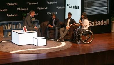 Trobada amb Rafa Nadal, Marc López i Lola Ochoa a Màlaga