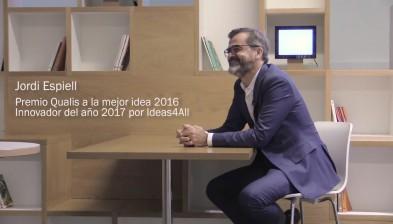 Participants. Jordi Espiell, premi Qualis a la millor idea 2016