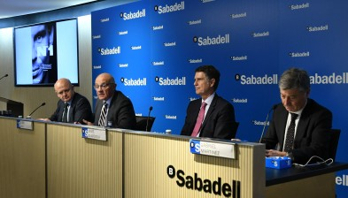 Banco Sabadell's profit amounts to €801,5 million in 2017 (+12.8)