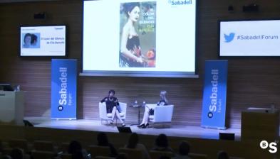 Sabadell Forum amb l'escriptora Elia Barceló. Presentació de