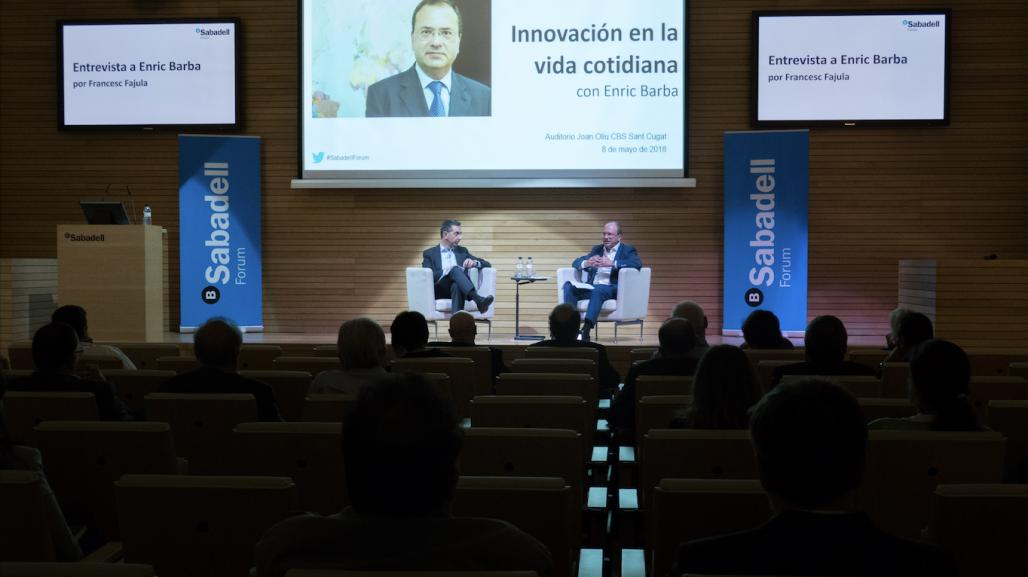 Innovación en la vida cotidiana, con Enric Barba. Sabadell Forum