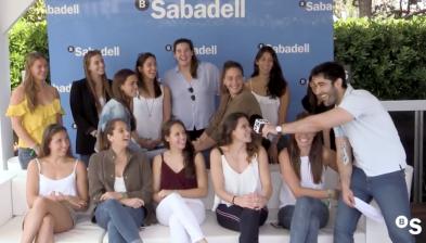 L'equip de waterpolo femení del CN Sabadell en el Barcelona Open Banc Sabadell