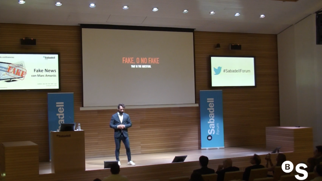 El fenómeno de las 'fake news', con Marc Amorós. Sabadell Forum