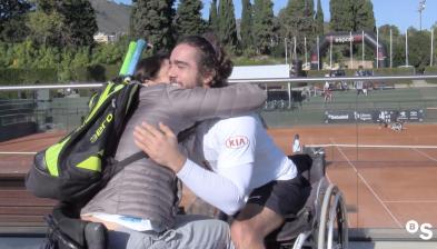 Daniel Caverzaschi i Lola Ochoa en el Màster Nacional de Tennis cadira