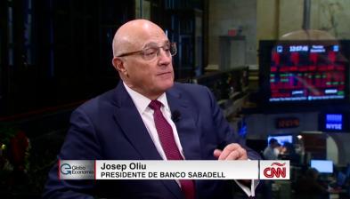 Josep Oliu entrevistat als Estats Units per la cadena CNN GloboEconomía