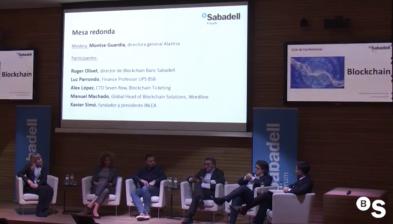 Blockchain en el sector financer. Sabadell Forum