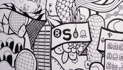 Descobreix el mural de Yoshi Sislay en l'estand comercial del Barcelona Open Banc Sabadell
