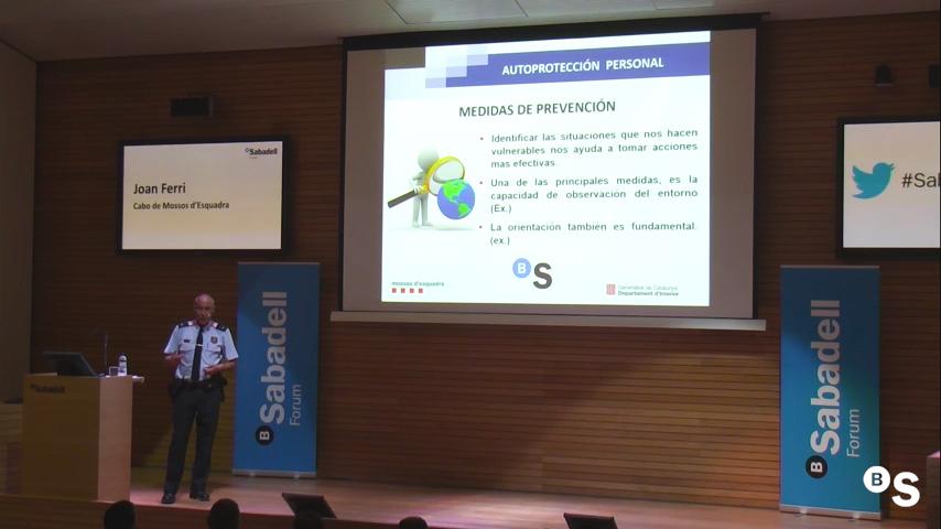Seguridad en el hogar y autoprotección. Sabadell Forum