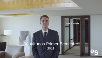 Resultats 1S19 de Banc Sabadell. Jaume Guardiola, CEO