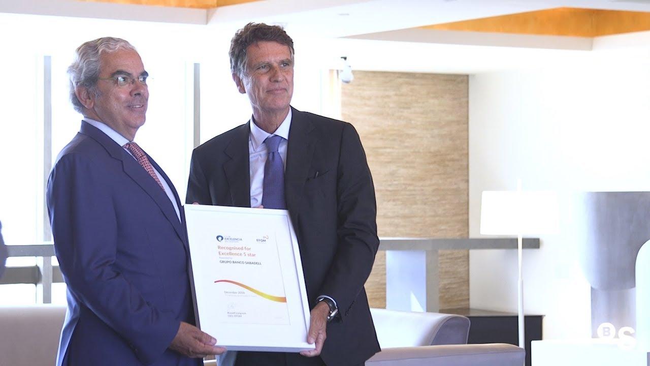 Entrega del Sello de Excelencia EFQM a Banco Sabadell