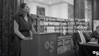 Entrega del Premio XVIII Fundación Banco Sabadell a la Investigación Económica