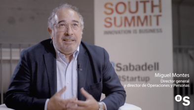 Miguel Montes, director general y director de Operaciones y Personas de Banco Sabadell, en South Summit 2019