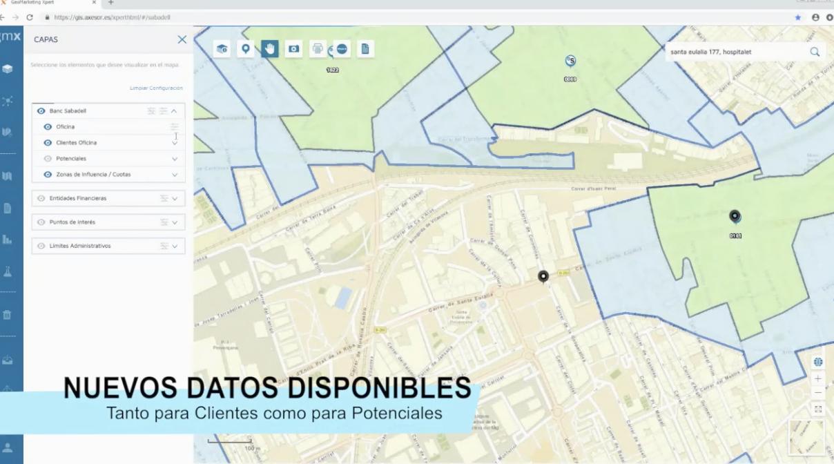 Nuevas funcionalidades de Sabadell Maps