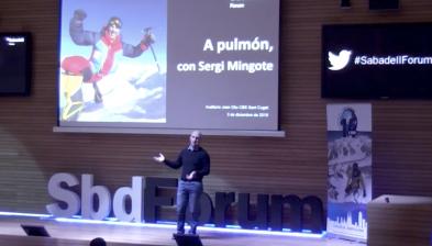 A pulmón, la superación en busca de la felicidad. Sabadell Forum con Sergi Mingote