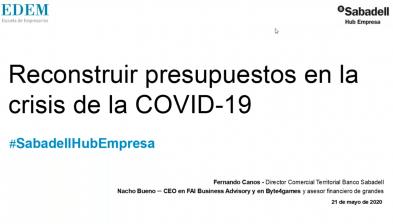 Reconstruir presupuestos en la crisis de la COVID-19