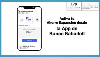 Compte Estalvi Expansió de Banc Sabadell