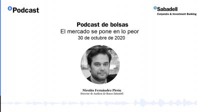 Podcast de bolsas: El mercado se pone en lo peor. 30 de octubre de 2020