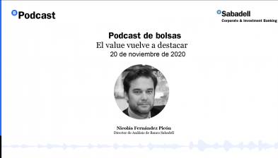 Podcast de bolsas: El value vuelve a destacar. 20 de noviembre de 2020
