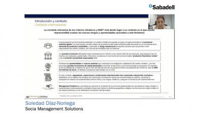 Webinar Auditoria Interna - ECB – Borrador de la Guía sobre riesgos relacionados con el clima y medioambiental