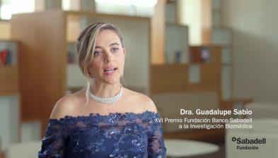 Entrevista con la Dra. Guadalupe Sabio, XIX Premio Fundación Banco Sabadell a la Investigación Biomédica