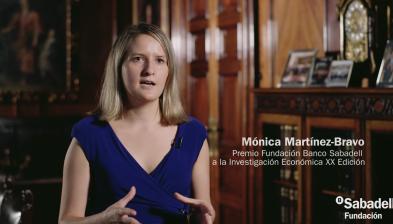 Entrevista con la Prof. Mónica Martínez-Bravo, XX Premio Fundación Banco Sabadell a la Investigación Económica.